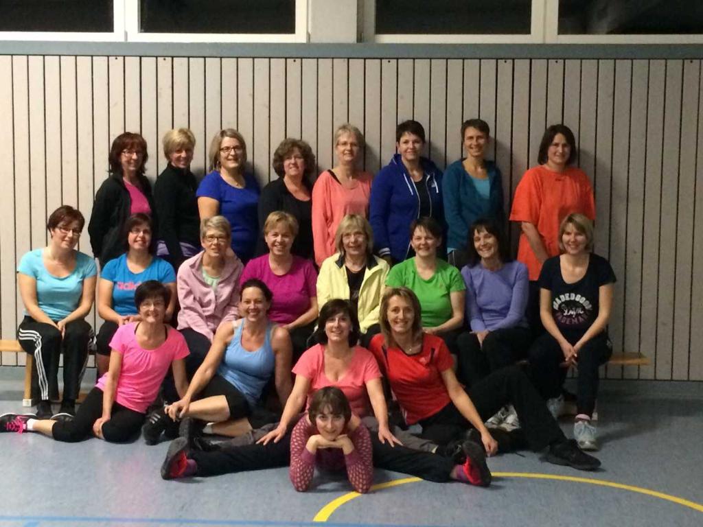 Gruppenbild der Fitnessgruppe